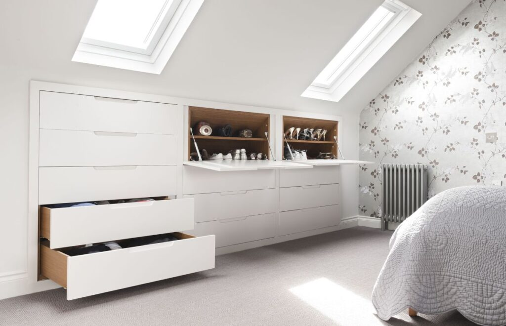 low wardrobes for lofts