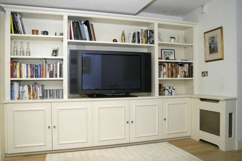 bespoke fitted interiors lounge living room media unit