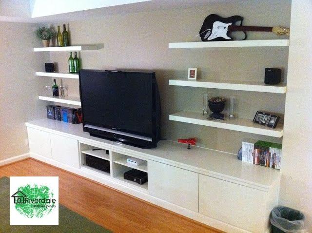 built in bookshelf tv unit