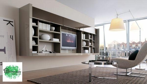 built in bookshelves and tv unit