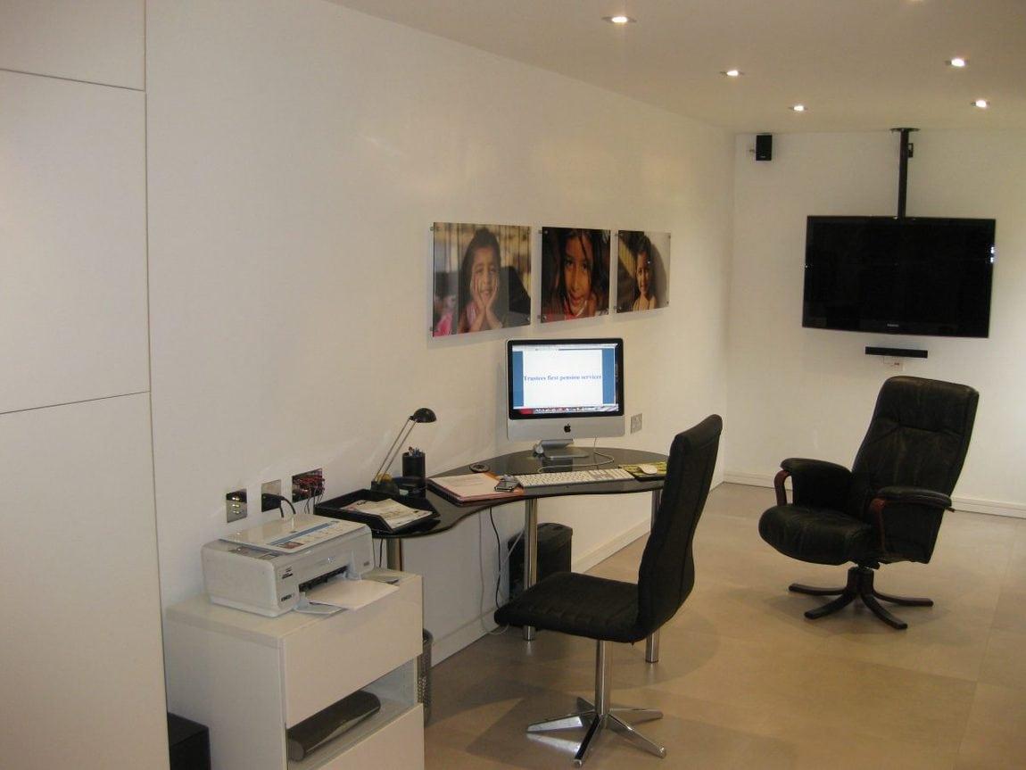 bespoke garage conversion into a home cinema