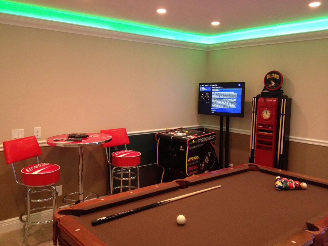 bespoke garage conversion games room