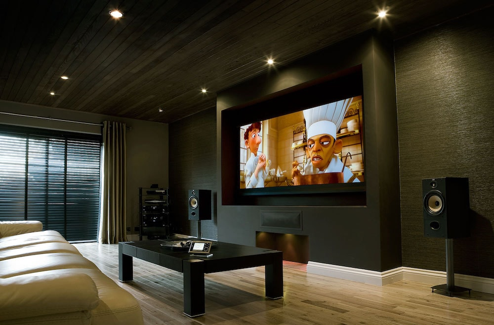 bespoke garage conversion to a home cinema