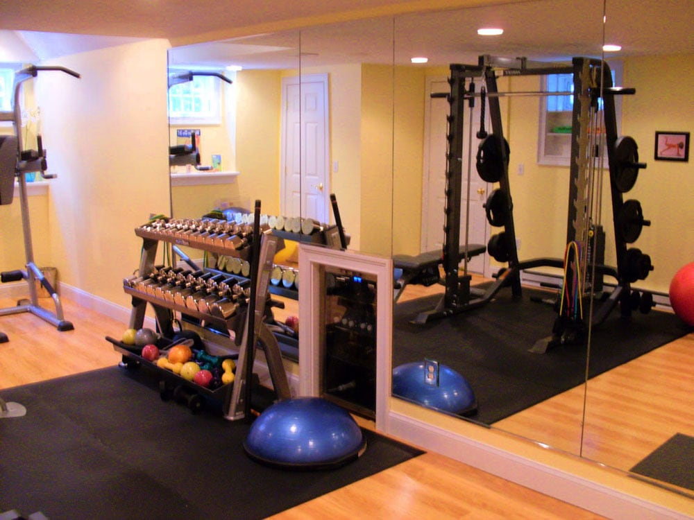 bespoke garage conversion to home gym