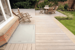 garden decking installers sheffield short plank rustic finish