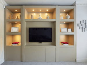 by riverdale bespoke joinery sheffield lounge furniture housing media unit and display shelving