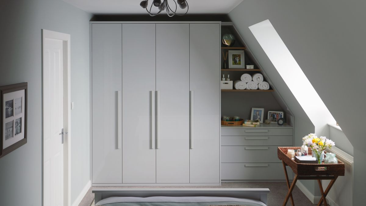 bespoke fitted loft wardrobe storage