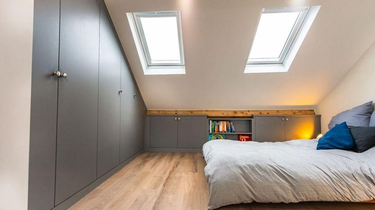 wardrobe fitted bedroom loft storage