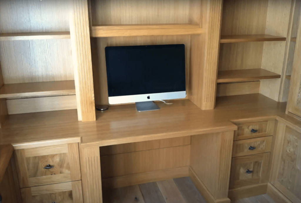 small fitted office at home